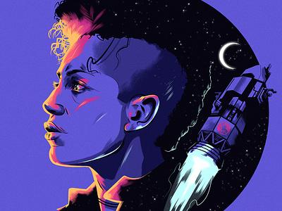 The Expanse alexander wells sci-fi space portrait character editorial folioart digital illustration