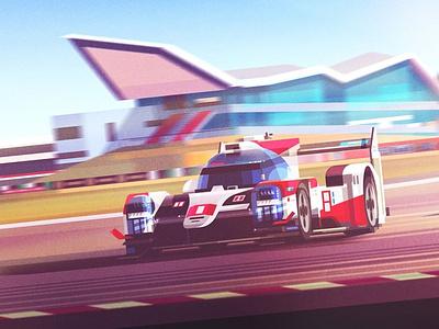 Toyota james gilleard engineering car motion texture folioart digital illustration