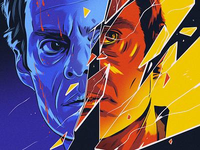 Barry conceptual alexander wells tv graphic portrait folioart digital illustration