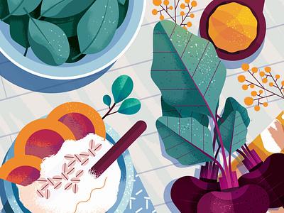 Blood Pressure texture maite franchi green health food editorial folioart digital illustration