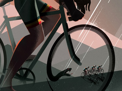 Betrayal texture eleni debo sport landscape conceptual cycling editorial folioart digital illustration