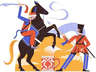 Turkish Coffee michael driver colour coffee horse character editorial folioart digital illustration