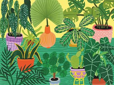Botanic Garden green folioart bodil jane nature plants pattern product digital illustration