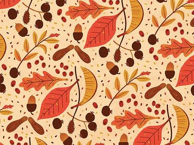 Autumn michael parkin texture digital nature leaves illustration fall autumn pattern