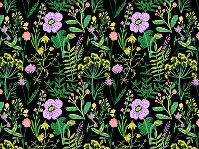 Wildflowers bodil jane pattern floral flowers folioart digital illustration