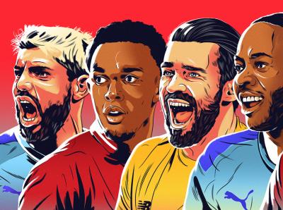 Rankings alexander wells portraits sport football character editorial folioart digital illustration