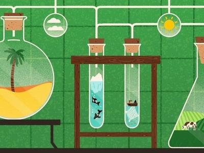 Climate Change michael parkin lab environment science climate texture editorial folioart digital illustration