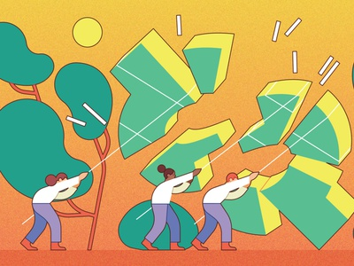 Shared Value vector kiki ljung conceptual business finance character editorial folioart digital illustration