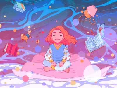 Bedtime ricardo bessa dream fantasy child books character folioart digital illustration