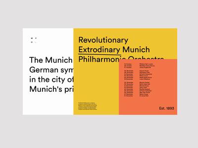 Orchestra WIP. uxui ui design information journey web design typographic website website music colours typography layers menu ux ui