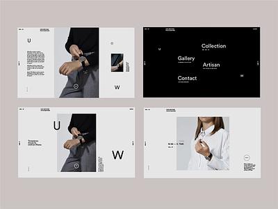 Uniform Wares. Website UX WIP design landing page photography sans serif interaction minimal type video animation menu ui ux website typography