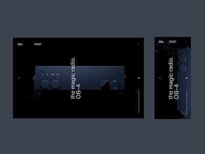 Teenage Engineering WIP Homepage responsive website minimal mobile desktop typography homepage animation video menu type responsive landingpage
