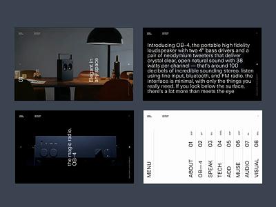Teenage Engineering WIP Homepage layouts scroll minimal type video photography landing page website menu ui animation design ux typography