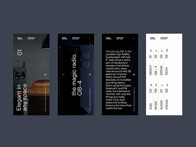 Teenage Engineering WIP Homepage mobile layouts product scroll minimal responsive mobile video ui landing page type website menu animation ux typography
