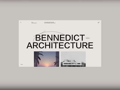 Architecture Homepage WIP ux ui simple homepage modern menu highlight typography scroll animation video website minimal type