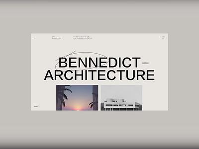 Architecture Homepage WIP ux ui simple homepage modern menu highlight typography scroll animation video website minimal type