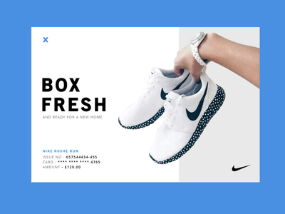 Nike Trainer Email Conformation — 017 Email Receipt  product sport e-commerce shoes blue ui design ux design daily ui email trainers nike