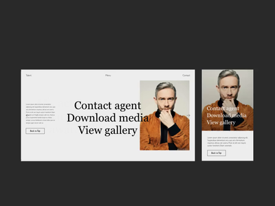 Talent Contact Mobile journey marvel film bold gallery photography mp4 animation branding menu ui ux design typography
