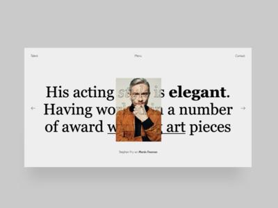 Typography Experiment navigation serif contrast bold white image ui design website minimal ux design typography