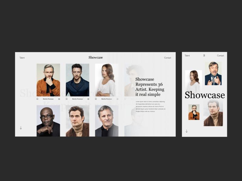 Showcase Responsive black photography ui design ux design website ui branding ux design typography
