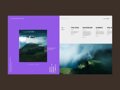 Online Visual Diary. transition mp4 sans serif type ui design ux design landing page menu website ui animation ux design typography