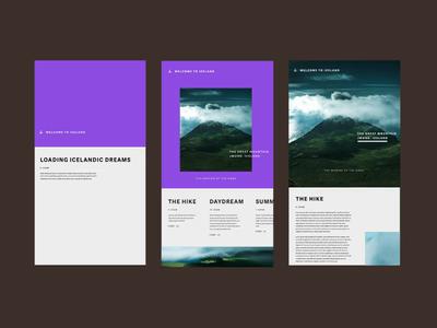 Responsive online diary purple logo purple transition app landing page menu photography ux design responsive ui branding animation ux design typography
