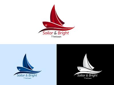 Sailor and Bright illustration vector icon logo design