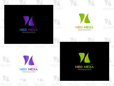 Neo Nexa typography software company logo logo for technology freelancing n letter logo logo designer gradient color logo illustration branding logo logo design