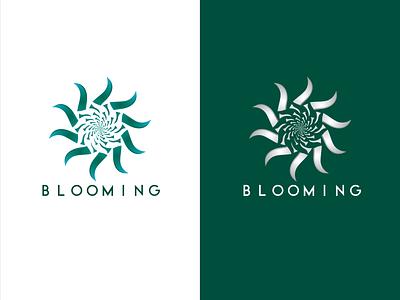 Blooming logo designer logo illustration vector logo design gradient color logo