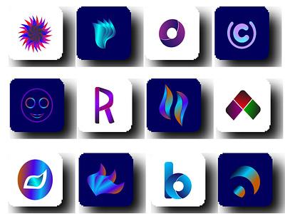 abstract logo software company logo logotype design freelancing branding logo designer icon gradient color logo illustration logo design logo