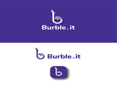 burble logotype logodesign freelancing branding logo designer logo gradient color logo illustration logo design