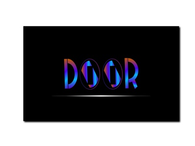 DOOR logodesign app logotype typography freelancing branding logo designer gradient color logo illustration logo design logo