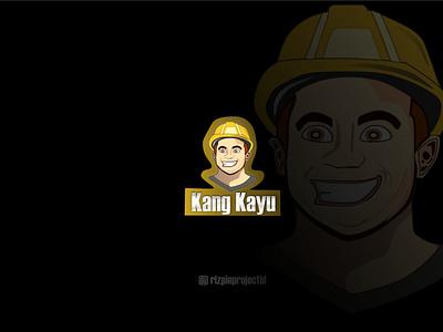 Icon Logo Kang Kayu ( Carpenter) ui vector illustration animation promotion banner graphic design design branding logo