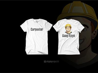 T-Shirt Carpenter (Kang Kayu) motion graphics 3d ui vector illustration animation promotion banner graphic design design branding logo