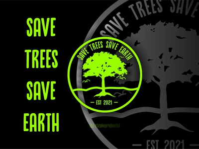 Save Trees Save Earth 2021 motion graphics 3d ui vector illustration animation promotion banner graphic design design branding logo