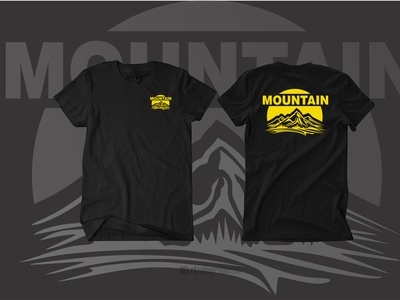 T-shirt Mountain ui vector illustration animation promotion banner graphic design design branding logo