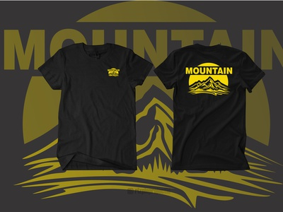 T-shirt Mountain motion graphics 3d ui vector illustration animation promotion banner graphic design design branding logo