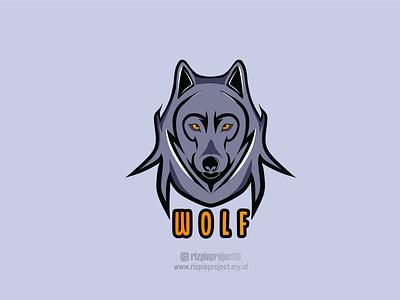 Wolf Logo motion graphics 3d ui vector illustration animation promotion banner graphic design design branding logo