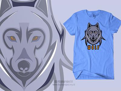 Tshirt Wolf motion graphics 3d ui vector illustration animation promotion banner graphic design design branding logo