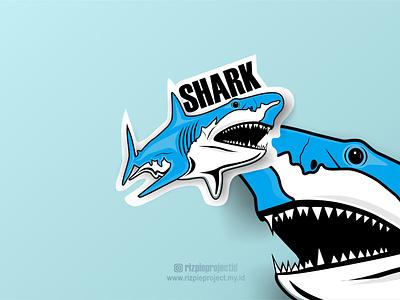Shark Logo motion graphics 3d vector ui illustration animation promotion banner graphic design design branding logo