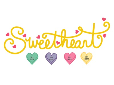Sweetheart Design Elements valentines day hand drawn type wit valentine love hearts heart sweetheart