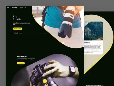 Picstudio photographer portfolio studio photography business css template bootstrap html5 responsive
