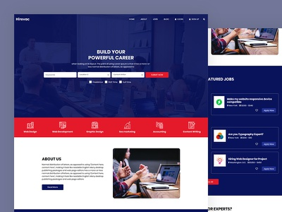 Hirevac school college university portal job career css template bootstrap html5 responsive