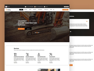 Fonicy architecture fonicy construction interior architect css template bootstrap html5 responsive