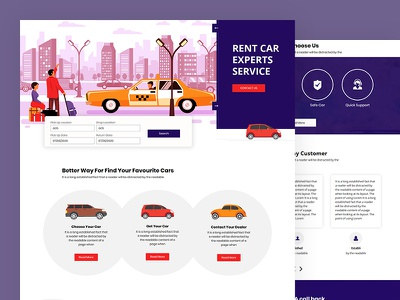 Rent4u vacation business car rent a car travel rent car css template bootstrap html5 responsive