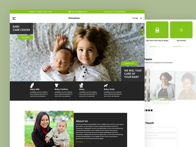 Primecare business children kindergarden preschool daycares baby care css template bootstrap html5 responsive