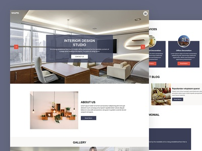 Shapel business construction architecture interior css template bootstrap html5 responsive