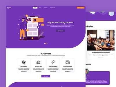 Digian digital marketing business digital marketing agency seo css template bootstrap html5 responsive