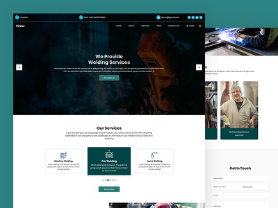 Finter business industrial finter metal welding css template bootstrap html5 responsive