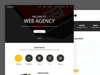 Esigned web agency development design agency website agency css template bootstrap html5 responsive